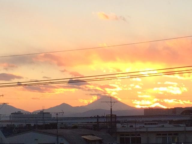 夕陽2018,1富士山と.JPG